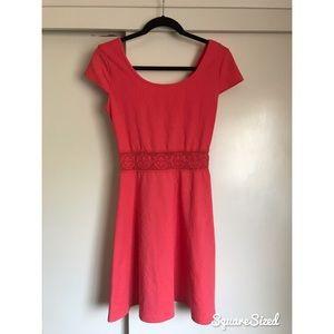 Pink/Coral Midi Dress